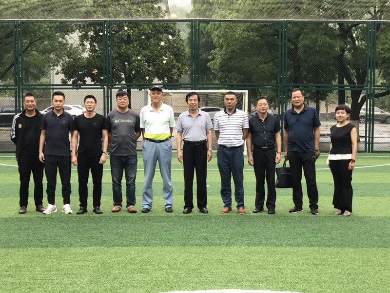 中国足球发展基金会考察宁波奉化莼湖中学